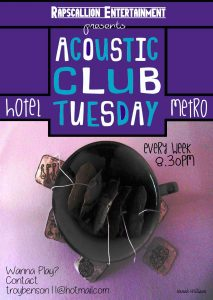 Acoustic Club Tuesday New - Every Tuesday 8.30pm