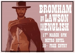 Tom Lawson Band, Bromham + Ollie English Poster 17 Mar