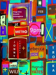 Hannah Yates, Troika, Rebecca Lyon, Chris Wiley + Jonathan Crouch 25 Feb Poster