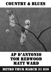 Tom Redwood. Metro. 31 March