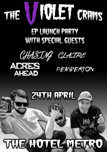 The Violet Crams EP Launch 24 April