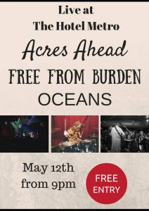 Acres Ahead, Oceans + Free from Burden Thurs 12 May