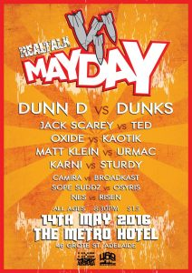 Real Talk May Day Battle Sat 14 May