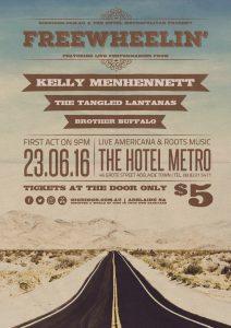 Kelly Menhennett, The Tangled Lantanas + Brother Buffalo Thurs 24 Jun