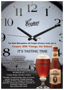 Coopers Vintage Release 14 July