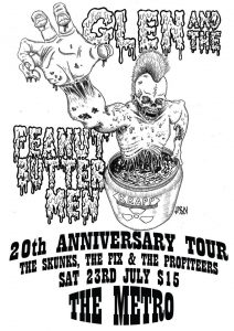Glenn and the peanut buttermen, The Skunks, The Fix and The Profiteers Sat 23 July