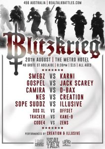 Real Talk Battle League // Blitzkrieg 20 Aug