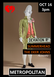 Summerhead, Deviation Road + the Dear Johns Sun 16 Oct