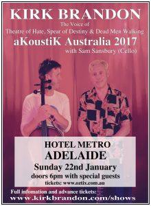 Kirk Brandon - Australia-akoustik Fri 20 Jan
