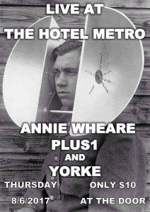 Yorke, Annie Wheare + Plus1 Thu 8 June