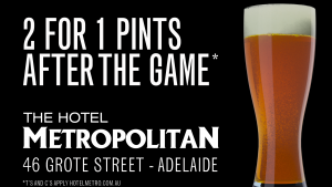 Port v Bris 2 for 1 pints Sat 17 June
