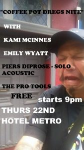 Pro Tools, Piers Diprose, Emily Wyatt + Kami McInnes Thu 22 June
