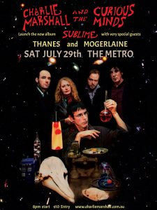 Charlie Marshall & the Curious Minds, Thanes + Mogerlaine Sat 29 July