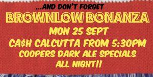 Coopers Dark Ale Brownlow Bonanza Mon 25 Sept