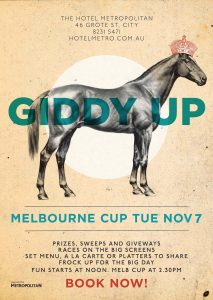 Melbourne Cup at The Metro Tues 7 Nov