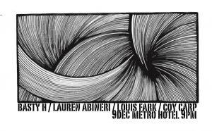 Basty, Lauren Abineri, Louis Fark + Coy Carp Sat 9 Dec