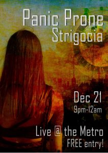 Panic Prone & Strigoaica Thurs 21 Dec