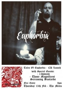 Tales Of Euphorbia CD Launch Thu 15 Feb