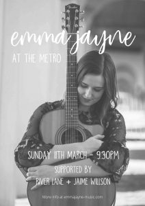 Emma Jayne, River Lane + Jaime Willson Sun 11 Mar