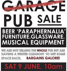 Garage / Pub Sale Sat 9 June