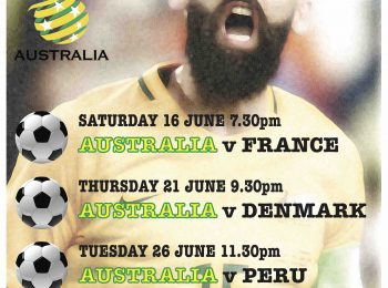 World Cup: Socceroos v Peru tues 26 June 11.30pm