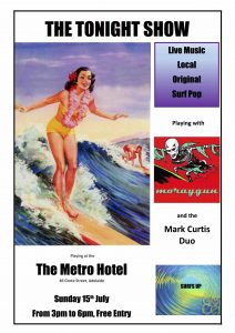 The Tonight Show, Moraygun + The Mark Curtis Duo Sunday 15 July 3pm