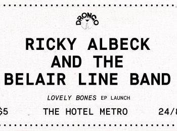 Ricky Albeck & The Belair Line Band + Dom & The Wizards + Oliver Miller & The Army Fri 24 aug