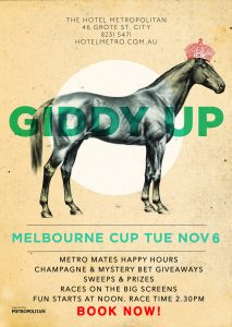 Tues 6 Nov Melbourne Cup at The Metro