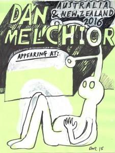 Dan Melchior gig poster 27 Feb