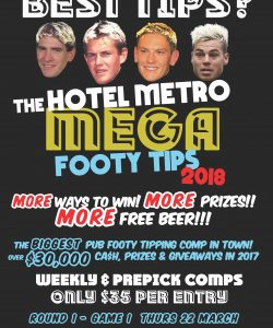 Footy Tipping 2018 Thurs 22 March
