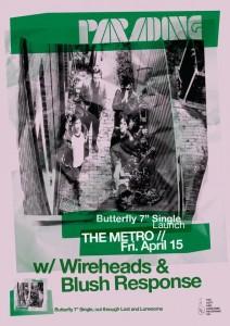 Parading + Wireheads + Blush Response 15 April