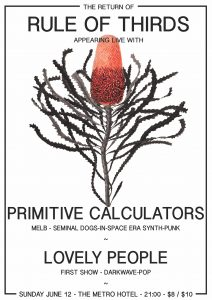 Rule of thirds, Primitive Calculators + Lovely People Longweekend 12 June