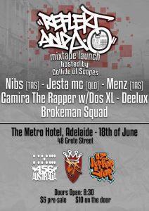 456 Australia Presents: Reflekt and AO Mixtape Launch // Adelaide Hip-Hop Show 18 June