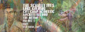 Scarlett Ives, Luke Golding, (Coy Carp Acoustic) + Rocketeers Duo Fri 2 Dec