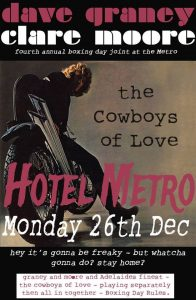 Dave Graney and Clare Moore + The Cowboys of Love Boxing Day
