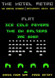 Ice Cold Fevers, The Oh Balters + Zac Eden Sat 28 Jan