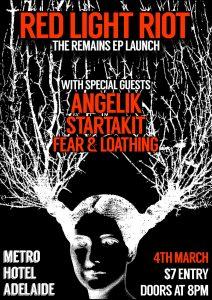 Red Light Riot, Angelik, Fear & Loathing + Startakit Sat 4 MArch