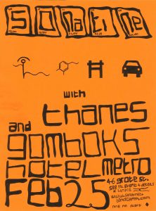 Sonatine, Thanes + Gomboks Sat 25 Feb