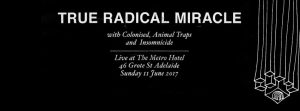 True Radical Miracle, Colonised, Animal Traps + Insomnicide Sun 11 june