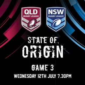 State of Origin Wed 12 July