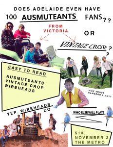 Ausmuteants, Vintage Crop, Wireheads + Perdition Fri 3 Nov
