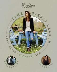 River Lane 'Time' Single Launch + Wolf and Willow (Vic) + Emma Jayne Fri 27 Oct