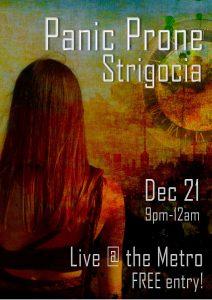 Panic Prone & Strigoaica Thurs 21 Dec