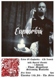 Tales Of Euphorbia CD Launch Thu 15 Feb