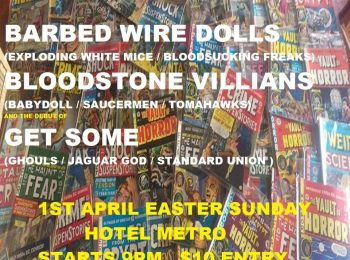 The Return of Garage MANIA !! - Barbed Wire Dolls Sun 1 April