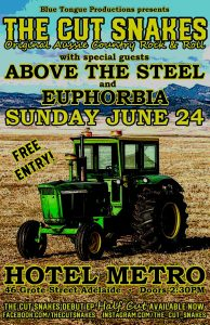 The Cut Snakes, Euphoria + Above the Steel Sun 24 June