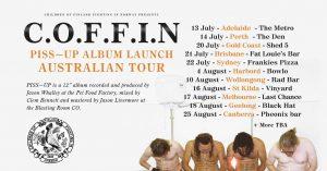 C.O.F.F.I.N. (Syd) Album Launch / Meatbeaters / Ballajan / St Judes Fri 13 July