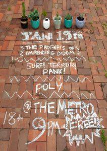 Sat 19 Jan The Prophets of Impending Doom / Surf!Terror!Panic! / Poly